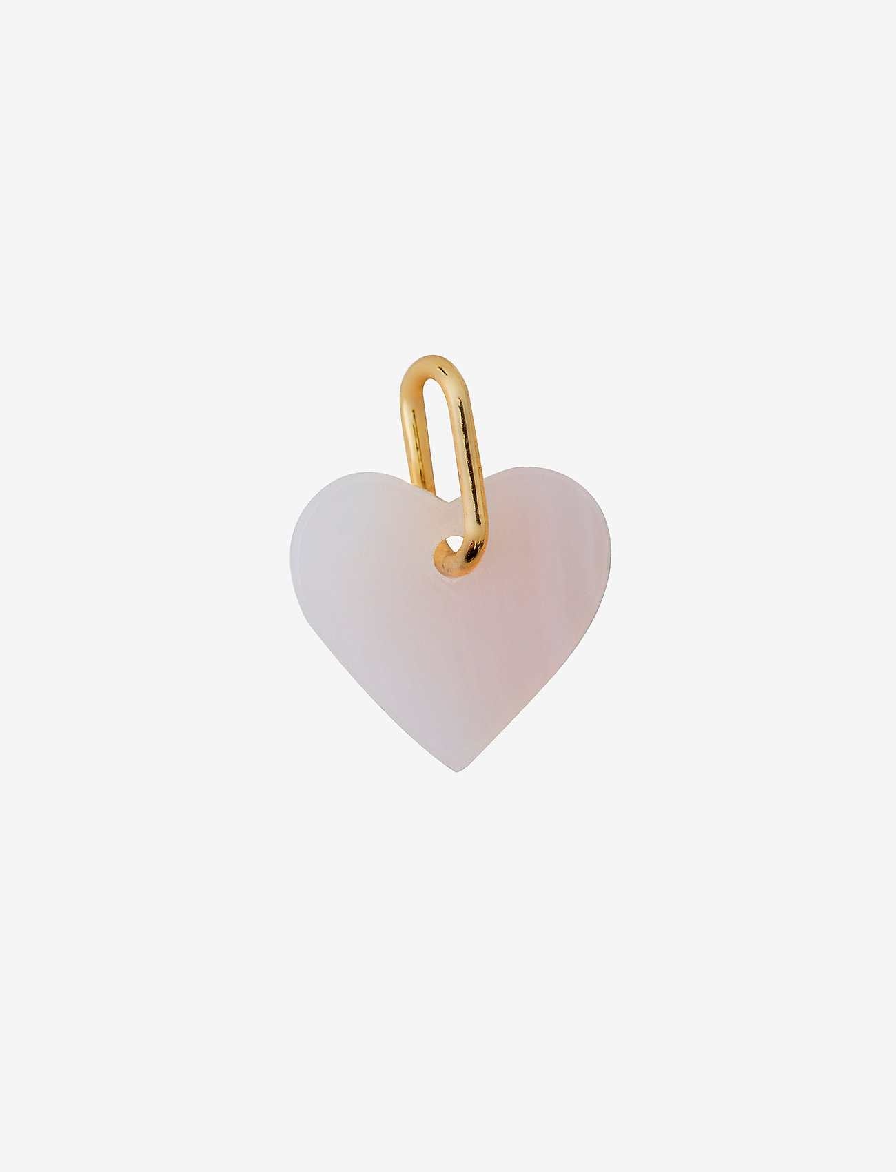 Design Letters - STONE HEART, GOLD - pendentifs - pink - 0