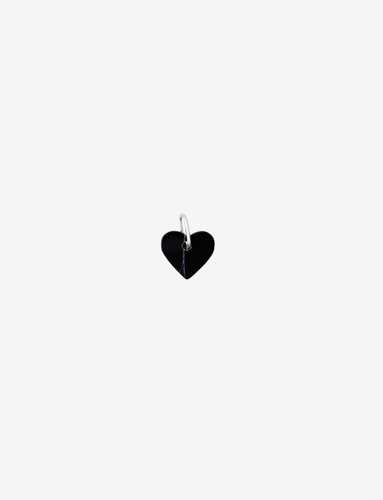 Design Letters - STONE HEART, SILVER - pendentifs - black - 0