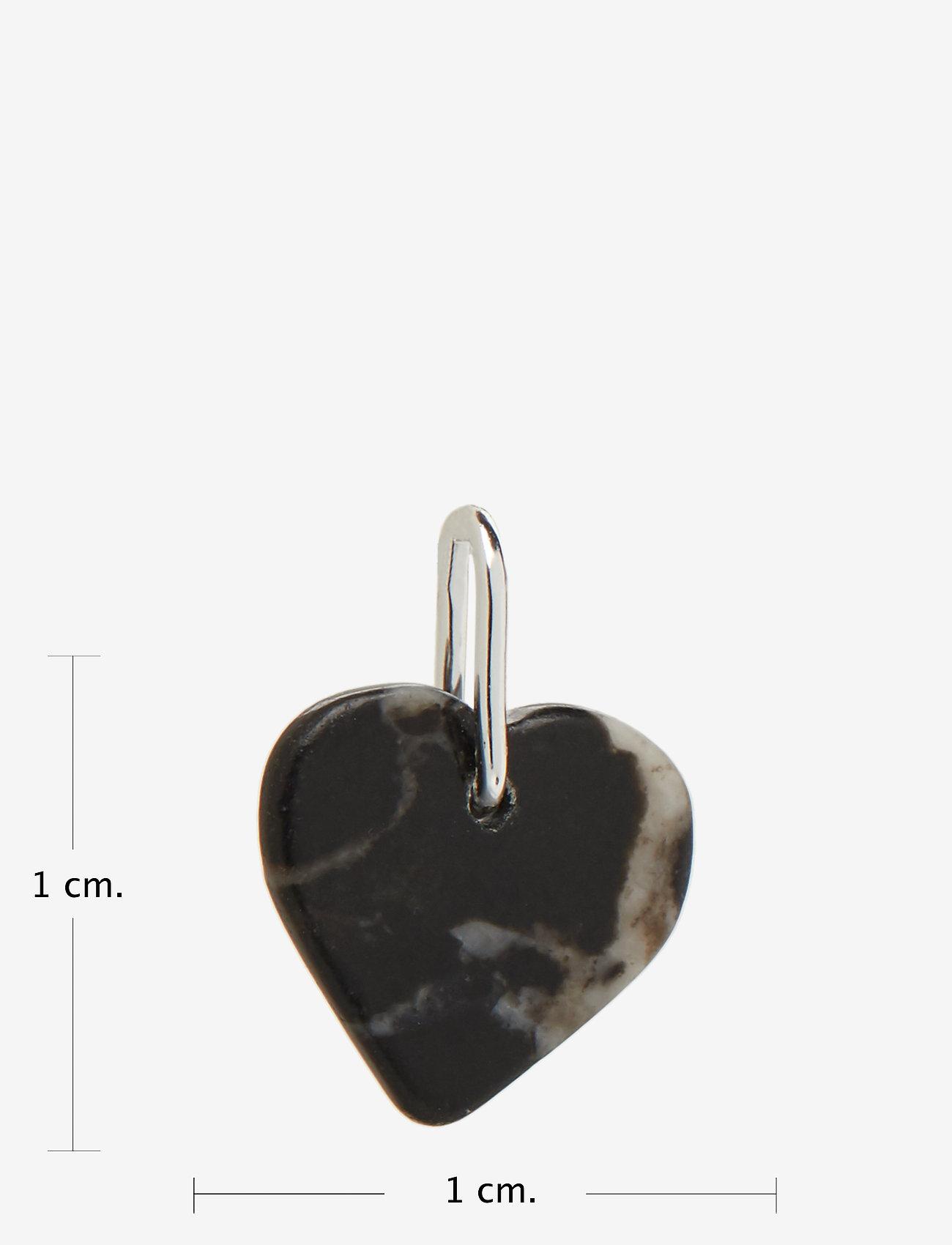 Design Letters - STONE HEART, SILVER - pendentifs - black - 1