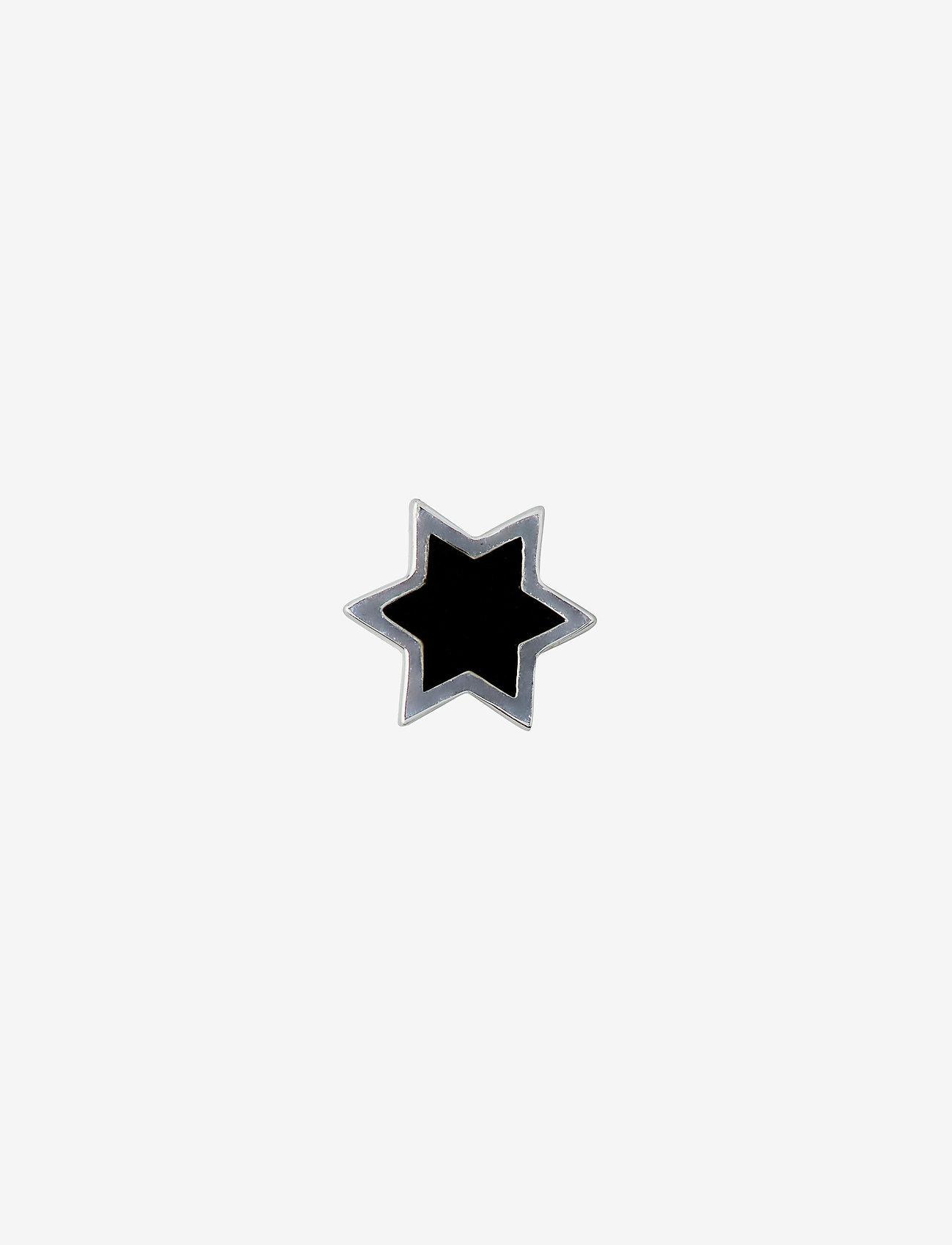 Design Letters - ENAMEL STAR CHARM, SILVER - pendentifs - black