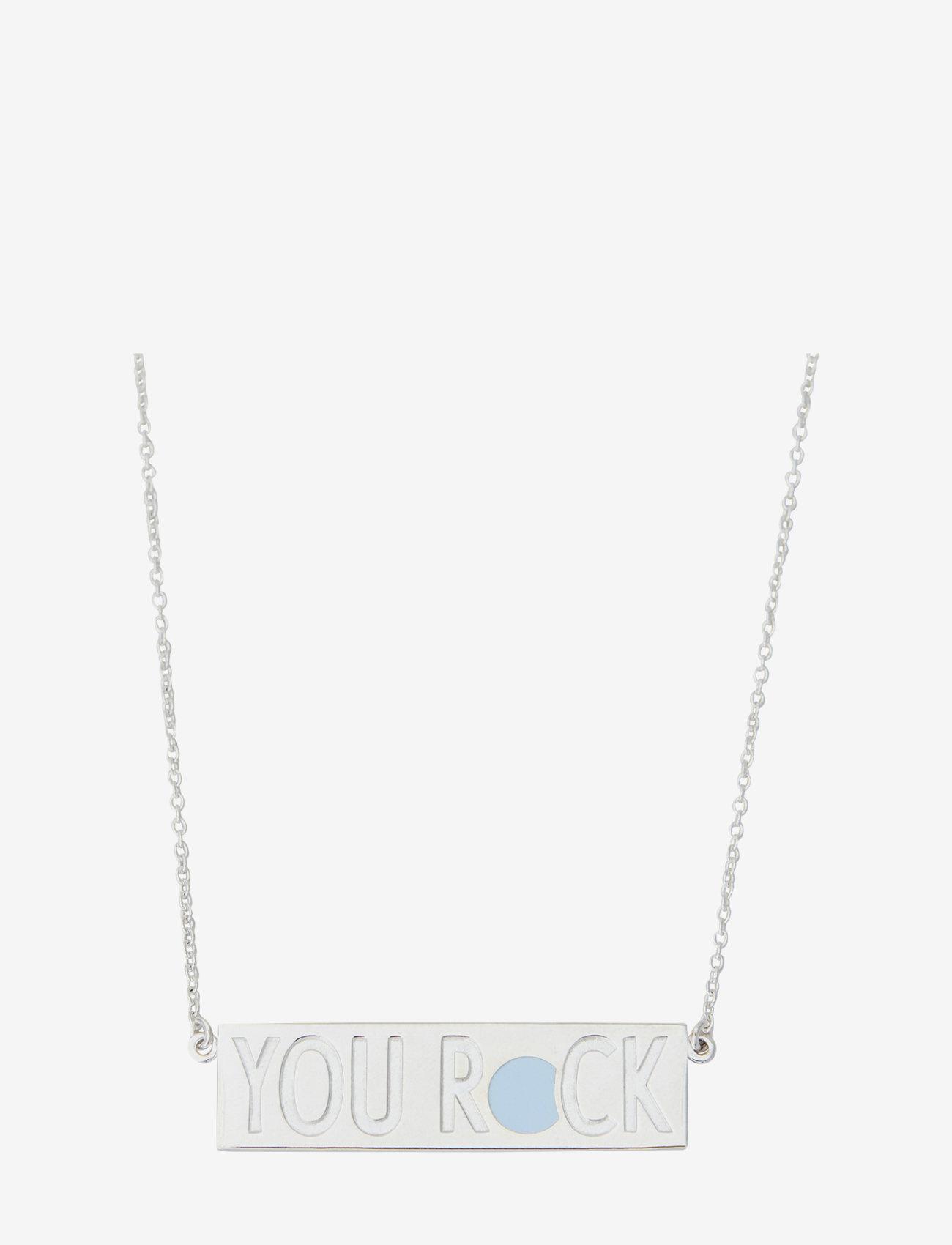 Design Letters - YOU ROCK Necklace - statement necklaces - silver - 0