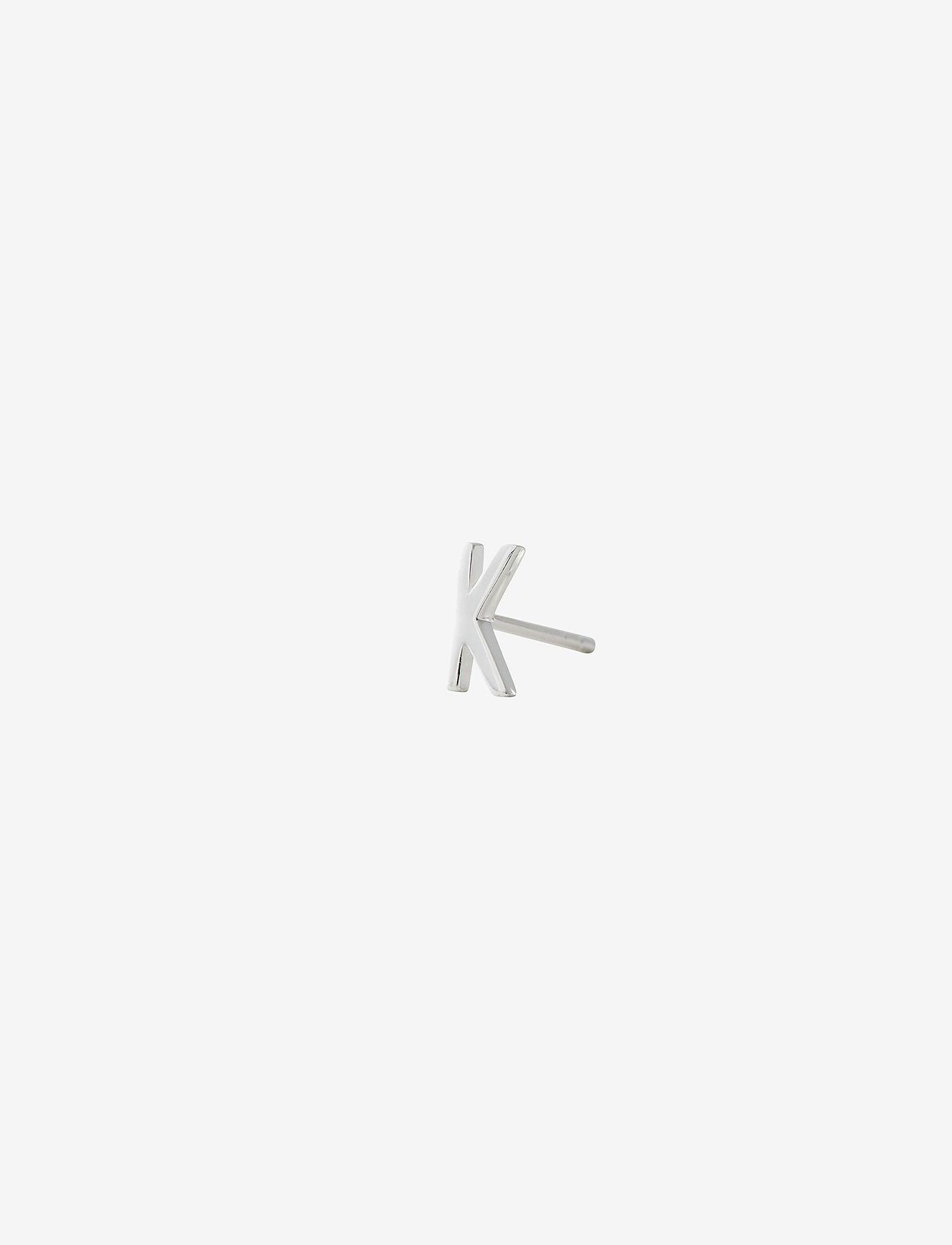 Design Letters - EARRING STUDS ARCHETYPES, SILVER, A-Z - goujons - silver - 0