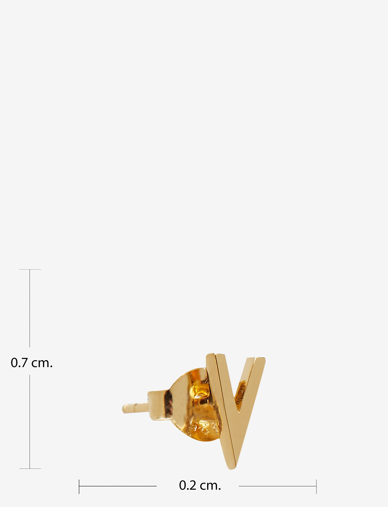 Design Letters - EARRING STUDS ARCHETYPES, GOLD, A-Z - goujons - gold - 1