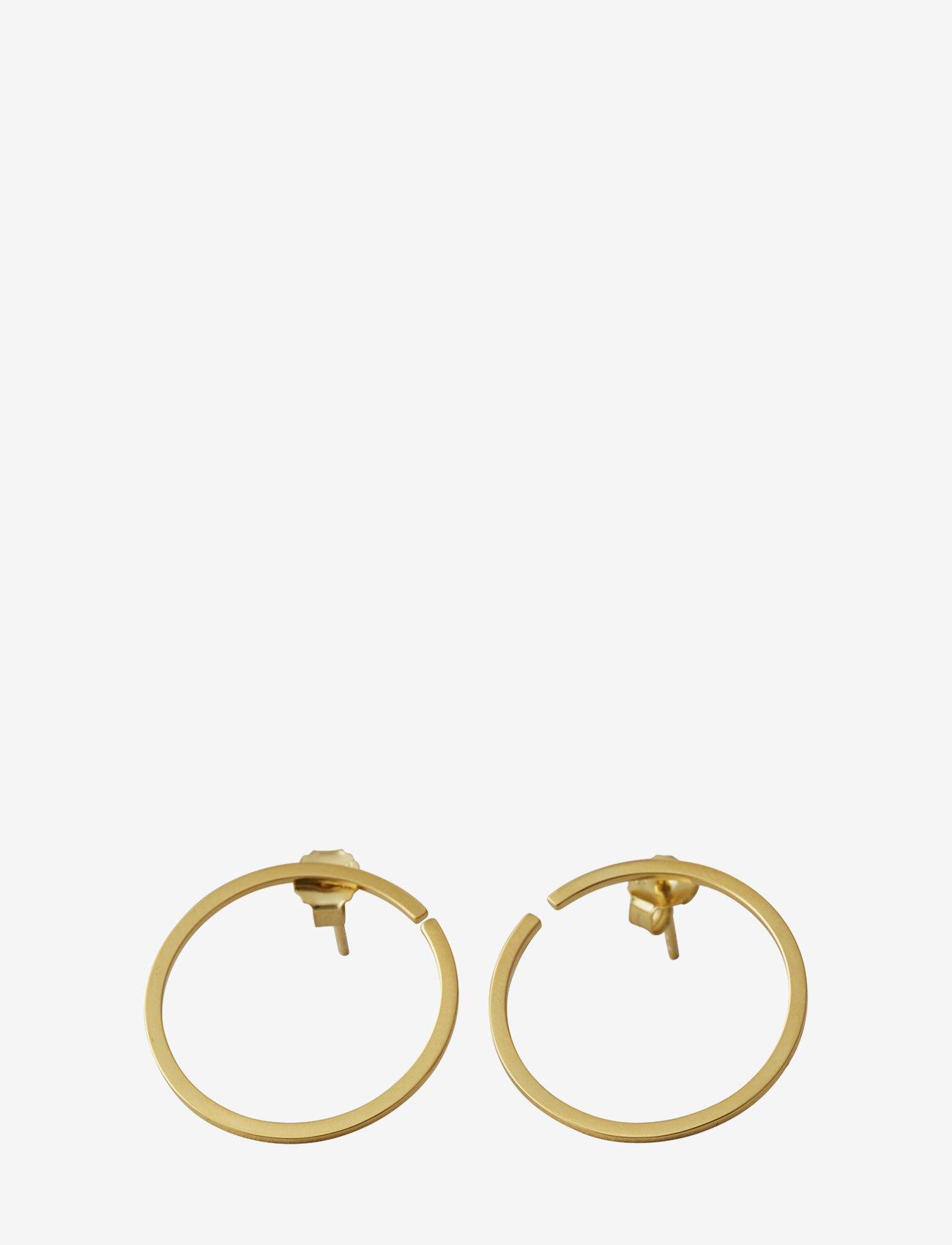 Design Letters - Earring hoops 24mm Gold (Set of 2 pcs) - cerceaux - gold - 0