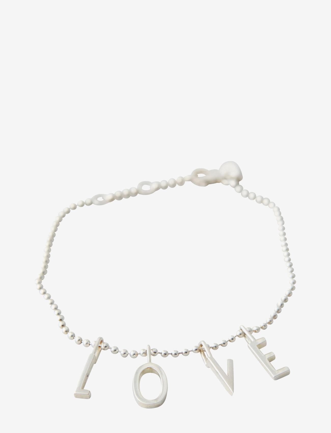 Design Letters - L-O-V-E Bracelet - dainty - silver - 0