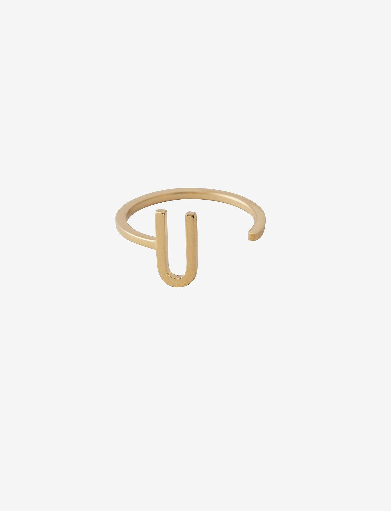 Design Letters - Ring A-Z Gold - bagues - gold - 0