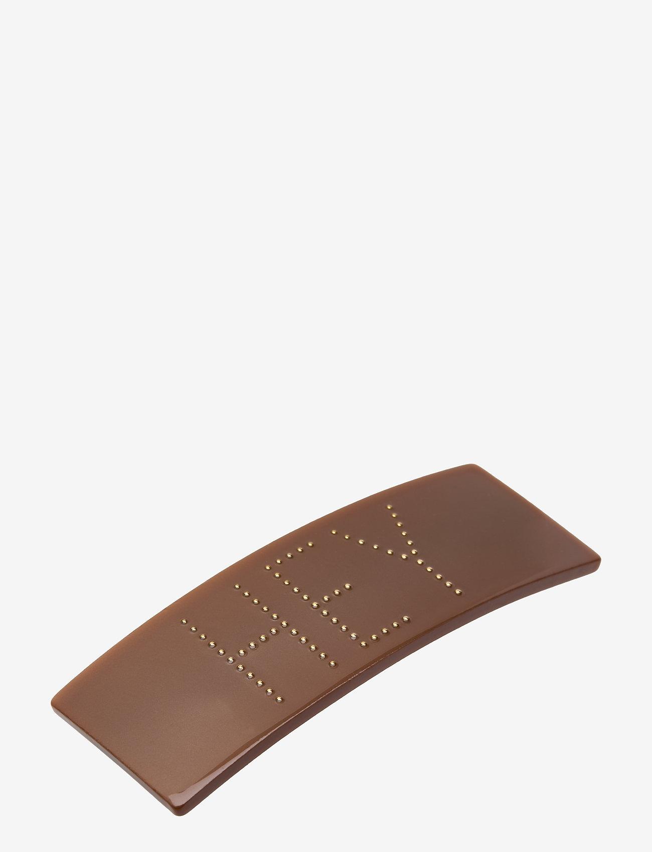 Design Letters - Classic Hair Clip Large - accessoires - brown - 0