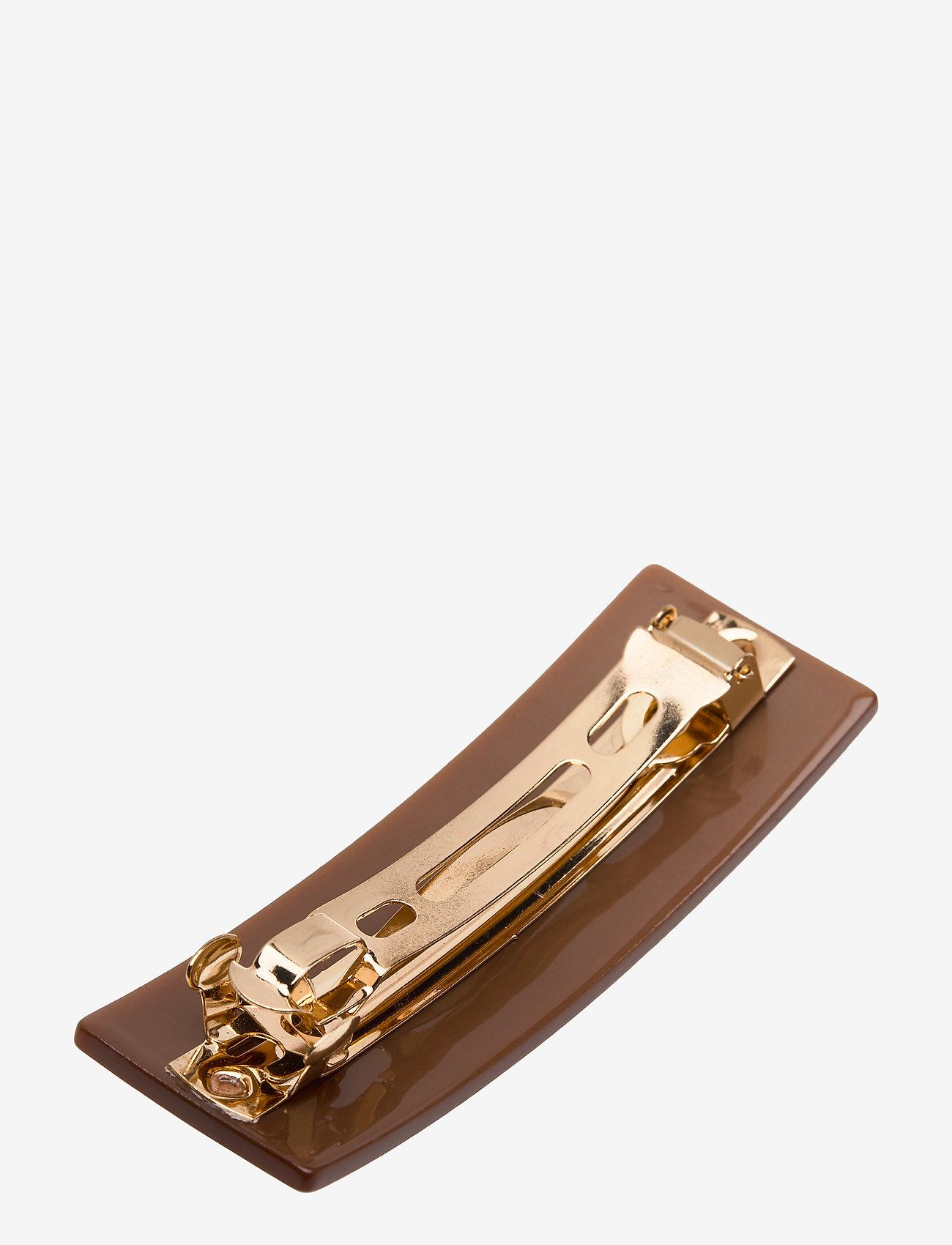 Design Letters - Classic Hair Clip Large - accessoires - brown - 1