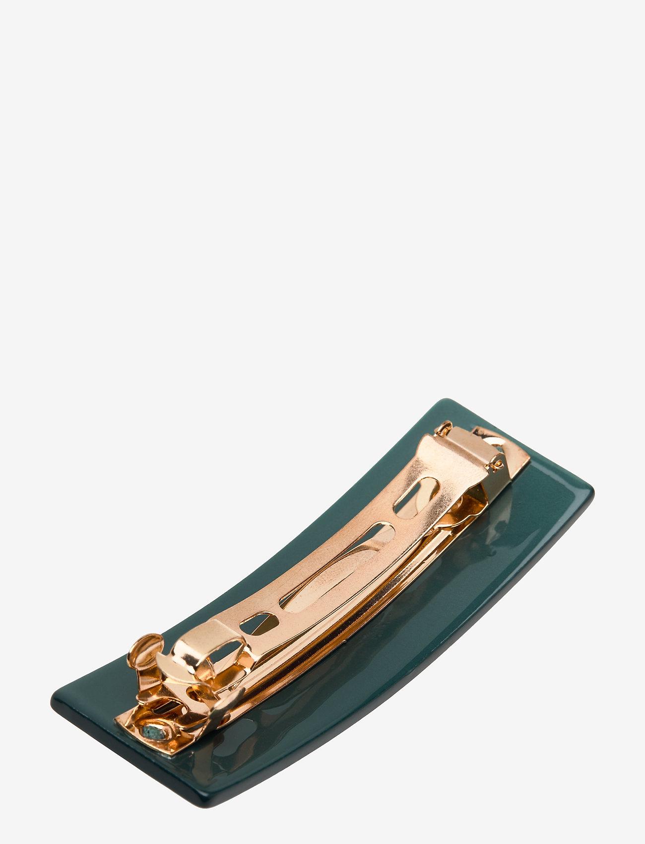 Design Letters - Classic Hair Clip Large - hiusasusteet - dark green 5545c - 1