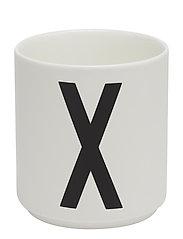 Porcelain cup a-z, æ, ø - WHITE
