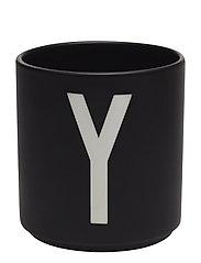 Black Porcelain Cups A-Z - BLACK