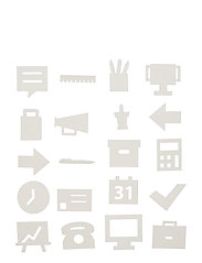 Office Icons, for message board (20 pcs) - WHITE