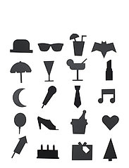 Party Icons, for message board (20 pcs) - BLACK