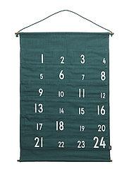 christmas calendar green - GREEN