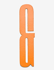 Orange wooden letters - ORANGE