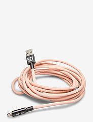 Design Letters - Extra long Cable 3m iPhone - handy accessoires - pink - 0