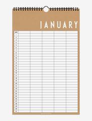 Monthly planner - BEIGE