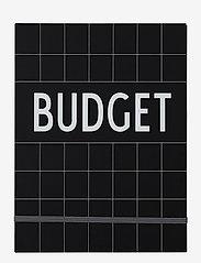Design Letters - Budget Book - Black - wystrój domu - black - 0