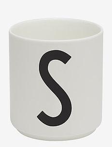 Porcelain cup a-z, æ, ø - kahvikupit - white