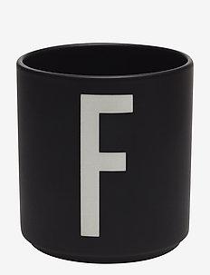 Black Porcelain Cups A-Z - tasses à café - black