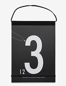 Paint book numbers - décor - black