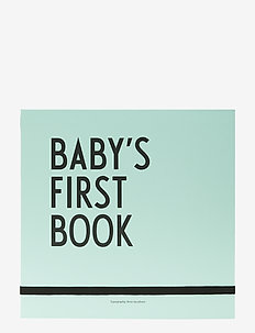 Baby's first book - baby products - turquoise
