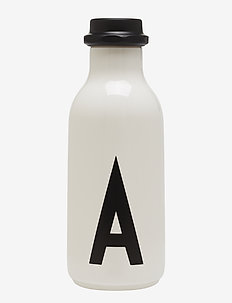 Water bottle A-Z - bouteilles à eau et bouteilles en verre - white