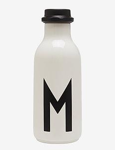 Water bottle a-z - deko - white