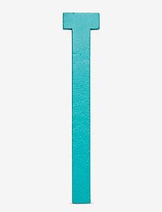 Turquoise wooden letters - accessoires décoratifs - turquise