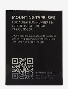 Mounting tape - home decor - black
