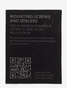 Mounting screws - salon - black