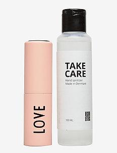 TAKE CARE Hand Sanitizer 100 ml + Bag size dispenser - hånddesinfeksjonsmiddel - nude 7521c