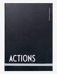 Actions Notebook - ACTIONS - home decor - black