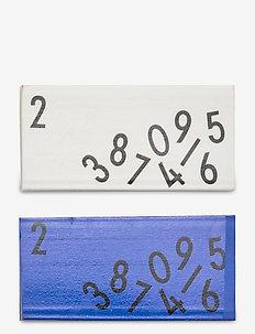 Eraser set of 2 pcs. - fournitures de bureau - blue