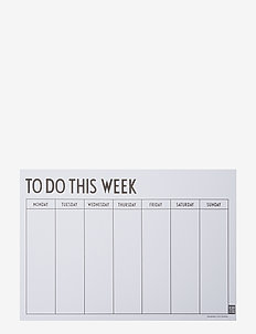 Weekly planner - home decor - black
