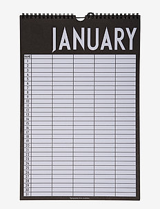 Monthly planner - home decor - black