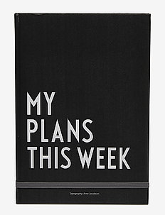 My plans this week - home decor - black
