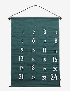 christmas calendar green - wystrój domu - green