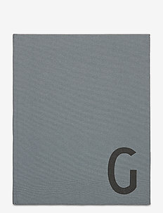 Personal textil notebook - home decor - grey