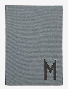 Personal textil notebook - wystrój domu - grey