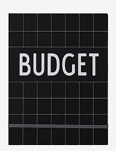 Budget Book - Black - home decor - black
