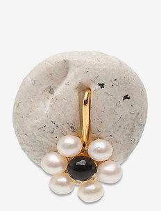 My Flower Charm 7mm w. Freshwater Pearls - serrures - gold