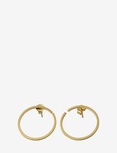 Earring hoops 24mm Gold (Set of 2 pcs) - cerceaux - gold