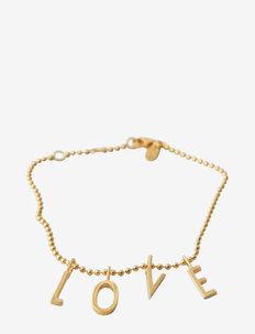 L-O-V-E Bracelet - dainty - gold