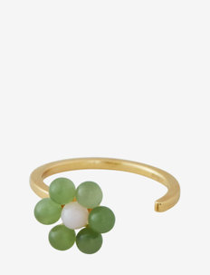 My Flower Ring 10 mm GOLD - bagues - green