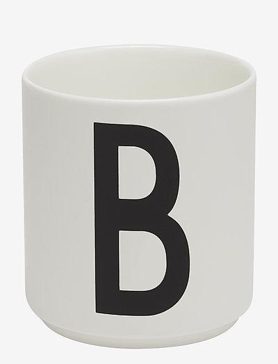 Porcelain cup a-z, æ, ø - tasses à café - white