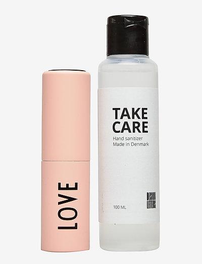 TAKE CARE Hand Sanitizer 100 ml + Bag size dispenser - handsprit - nude 7521c