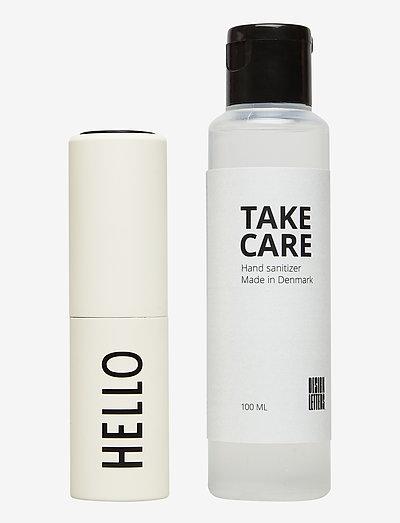 TAKE CARE Hand Sanitizer 100 ml + Bag size dispenser - handsprit - off white