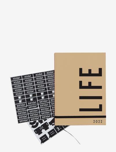 Calendar 2022 - fournitures de bureau - beige