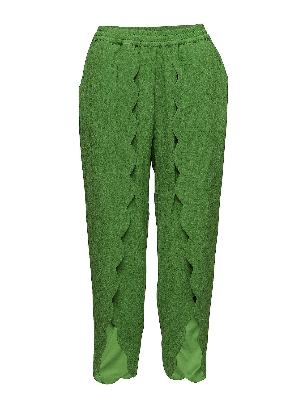 Image of Mattie Scallop Pants Slimfit Bukser Grøn DESIGNERS, REMIX (2978588261)